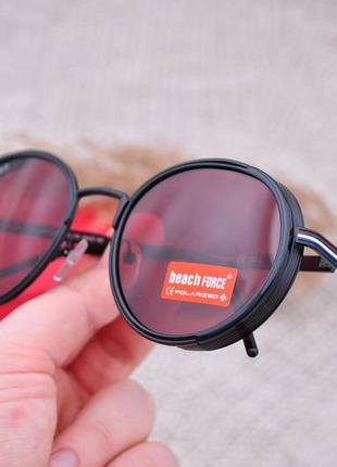 Фирменные круглые солнцезащитные очки beach force polarized unisex