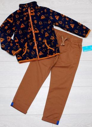 Костюм, комплект флисовая кофта и штаны джоггеры pepco. 110, 116