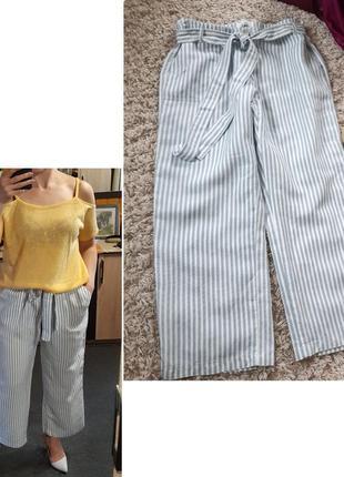 Стильные полосатые брюки/кюлоты с поясом завязкой ,brax, p. 44-46