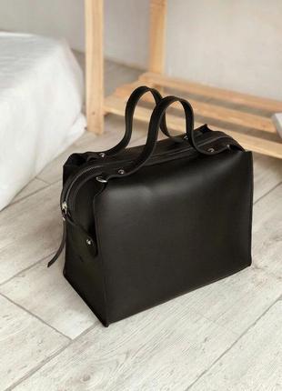 Стильна сумка саквояж екошкіра довгий ремінець (різні кольори)