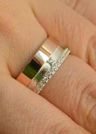 Обручальное кольцо из серебра обр21