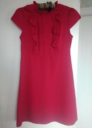 Платье малина рюши dorothy perkins