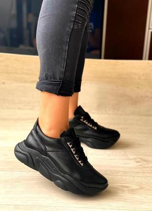 Женские кроссовки, кожа натуральная, 34-41р1 фото