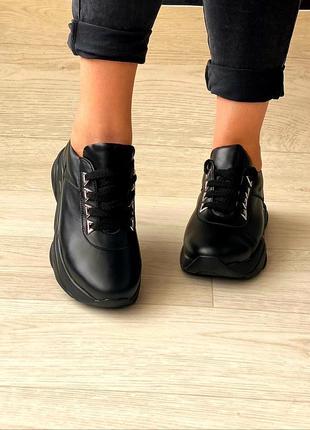 Женские кроссовки, кожа натуральная, 34-41р2 фото