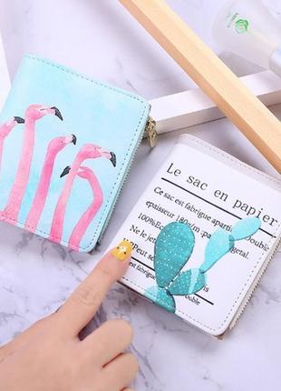 Модный короткий вместительный кошелек с кактусом, кактус новый компактный бумажник