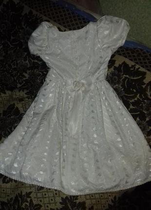 Нарядное выпускное платье на 6-10 лет.