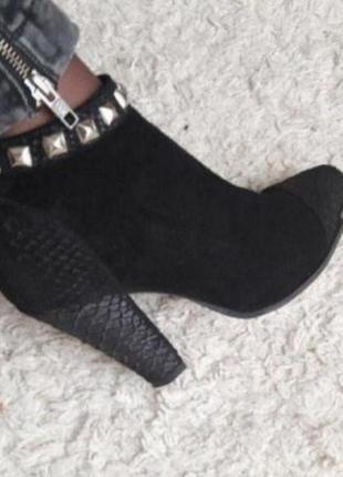 Ботинки кожа ботильоны