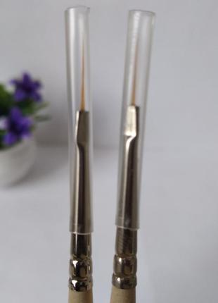 Синтетическая кисточка, кисть 7 волосков, инструменты для маникюра, silicon, силикон