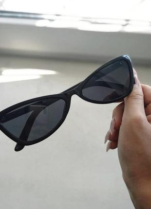 Треугольные узкие солнцезащитные очки ретро, окуляри сонячні сонцезахисні трикутні