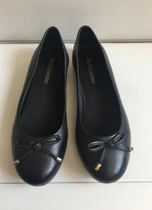 Кожаные туфли балетки bellissimo р.36