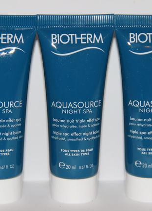 Biotherm крем ночной aquasource night spa