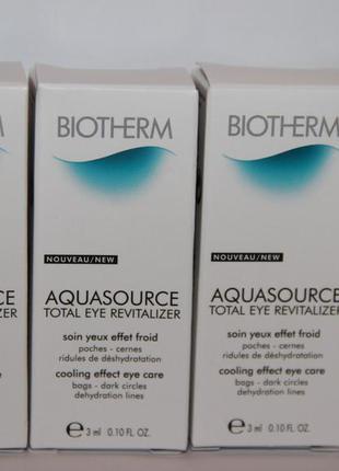Biotherm уход за кожей вокруг глаз aquasource total eye revitalizer