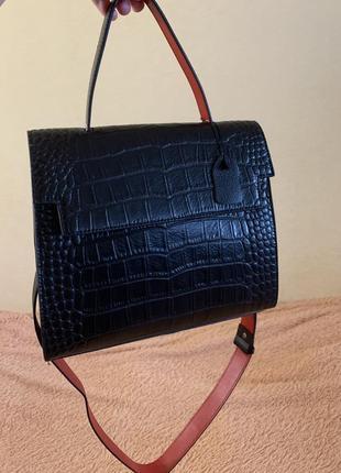 Сумочка кожаная кросбоди сумочка через плечо клатч сумка