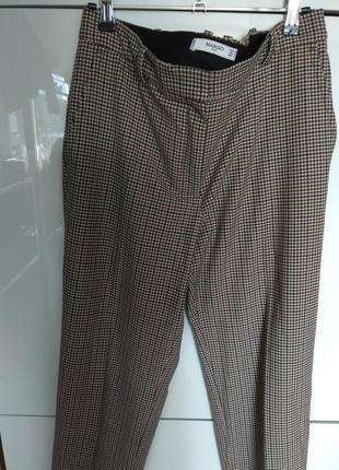 Трендовые брюки в клетку mango suit