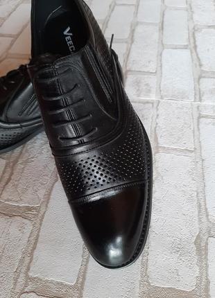 Шикарные классические чёрные мужские туфли