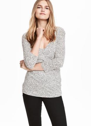 Блуза футболка топ для кормления и беременных от hm размер l вискоза