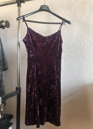 Платье велюровое сарафан