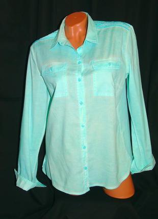 S. oliver шикарная рубашка мятно - зелёного цвета - m - l