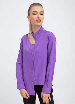 Новая неординарная дизайнерская рубашка трендового асимметричного кроя