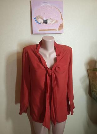 Яркий блузон из натурального шелка красного цвета schneider's salzburg