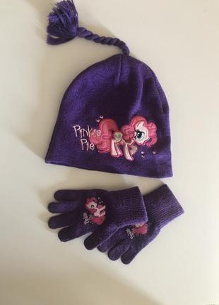 Шапочка  перчатки h&m