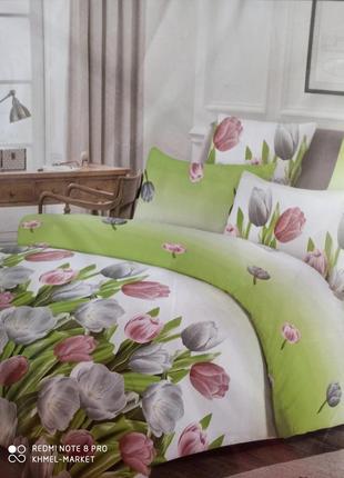 Постельное белье тюльпаны бязьголд