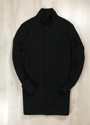 F9 пальто f&f черное шерстяное шерсть черное