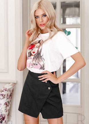 Стильная юбка-шорты1 фото