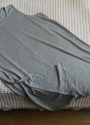 Туника удлиненная майка футболка с разрезами по боках