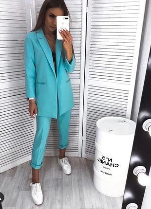 Шикарный костюм брюки пиджак идеальный цвет💙
