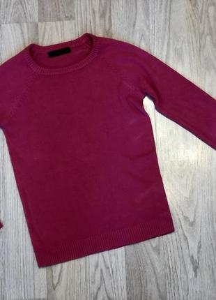 Стильный малиновый  свитер