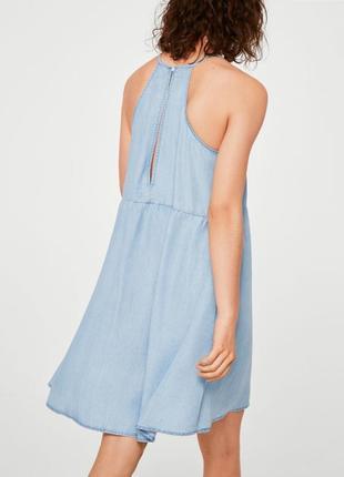 Лёгкое джинсовое платье, сарафан с красивой спинкой mango l