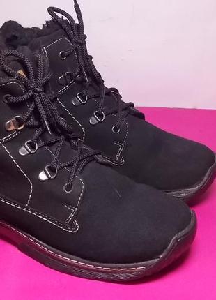 Женские  кожаные  ботинки  fare western