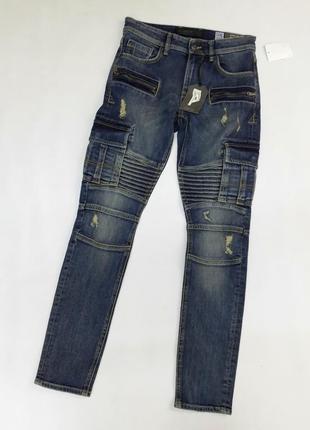 Мужские крутые джинсы skinny clockhouse размер 28
