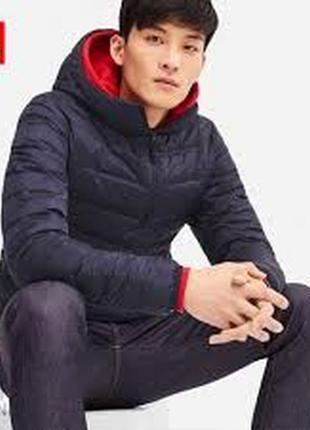 Пуховик мужской продвинутый легкий бесшовный куртка с капюшоном 409325 от uniqlo юникло