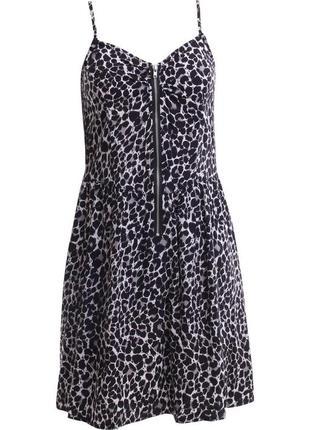 Сарафан леопард мини платье