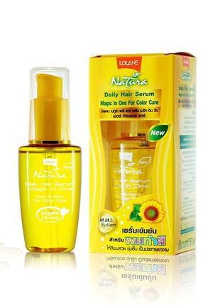 Тайская сыворотка масло для волос lolane daily hair serum для блеска и защиты цвета 50 мл