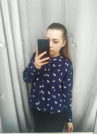 Красивенная рубашка в птички