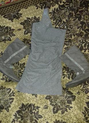 Комплект платье и сапоги на 10-12 лет.