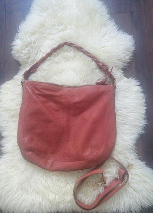 Кожаная сумка хобо