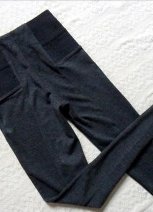"""Высокие, темно-серые леггинсы - штаны , скинни """"amisu"""""""