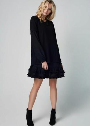 Платье с рюшей marterina