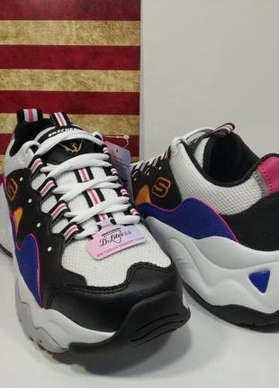 Skechers d'lites 3.0 - zenway кожаные женские кроссовки оригинал!