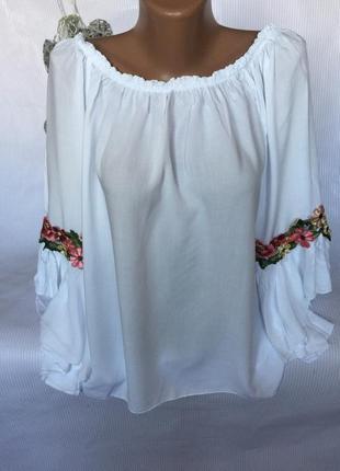Воздушная блуза с шикарными рукавами