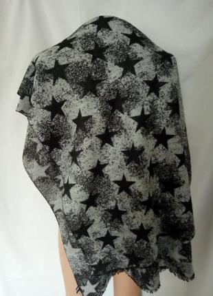 Очень теплый мягкий двусторонний шарф, шаль