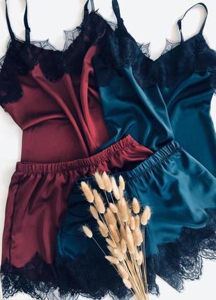 Женские пижамы из шелка, много расцветок, цена от производителя!