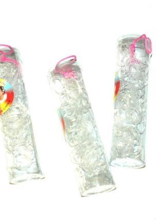 Прозрачные силиконовые резинки для косичек и причесок