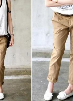 Luisa cerano брюки прямого покроя бежевые штаны штани бєжеві 42-40 l-xl