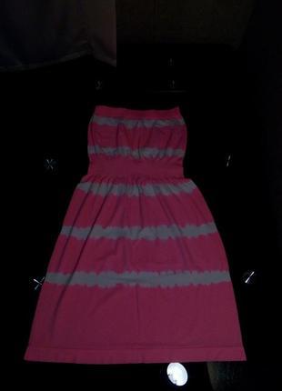 Летнее, яркое, пляжное, бесшовное платье бюстье okean club р-р 40-42