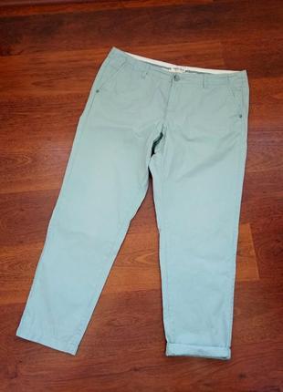 42р. мятные брюки чинос, хлопок m&s